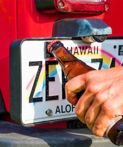 Rear License Plate Mounted Bottle Opener