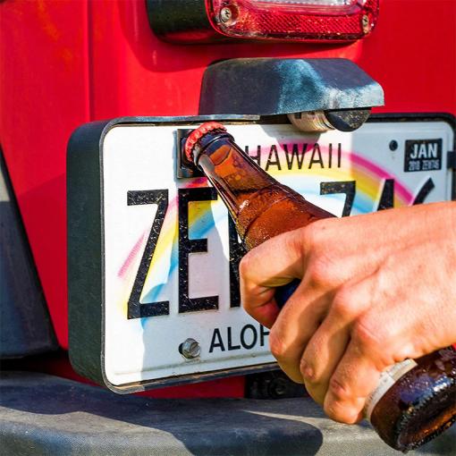 Rear License Plate Mounted Bottle Opener